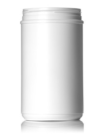 ($1.44 ea) 85 oz white HDPE single wall canister with 120mm neck finish- Case of 57