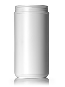 ($1.44 ea) 100 oz white HDPE single wall canister with 120mm triple thread neck finish- Case of 50