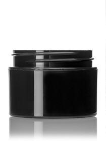 ($.32 ea) 1 oz black PP double wall straight base jar with 53-400 neck finish- Case of 486
