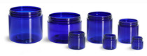 8 oz cobalt blue PET single wall jar with 89-400 neck finish- Case of 420