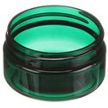 ($.42 ea) 2 oz green PET single wall jar with 58-400 neck finish- Case of 250