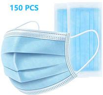 150 PCS Disposable Earloop Face Masks,Face Masks Medical,3-Ply Face Mask Antiviral Medical Surgical Dental Earloop Polypropylene Masks for Personal Health Virus Protection
