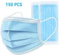 150 PCS Disposable Earloop Face Masks,Face Masks Medical,3-Ply Face Mask Antiviral Medical Surgical Dental Earloop Polypropylene Masks for Personal Health Virus Protection