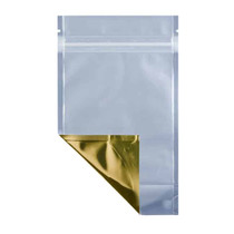 2 oz Barrier Stand Up Pouch  Clear/Gold (2000/Case)