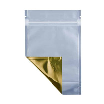 1 oz Barrier Stand Up Pouch –Clear/Gold (2000/case)