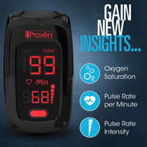 Pulse Oximeter Fingertip O2 Saturation Monitor - iProvèn OXI-27 Black