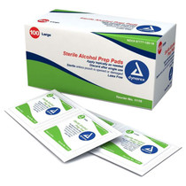 Dynarex Sealed Alcohol Sterile Prep Pads - Large