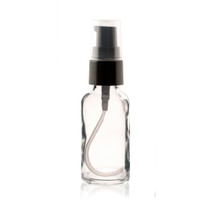 2 oz CLEAR Glass Bottle - w/ Black Treatment Pump