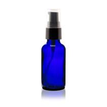 2 oz Cobalt BLUE Glass Bottle w/ Black Treatment Pump
