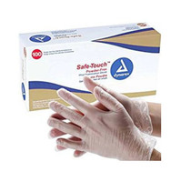 Dynarex Safe-Touch Vinyl Stretch Exam Gloves - Medium -Powder Free
