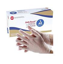 Dynarex Safe-Touch Vinyl Stretch Exam Gloves - Medium -Powder Free