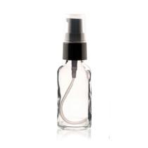 1 oz CLEAR Glass Bottle - w/ Black Treatment Pump