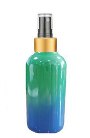 1 Oz Sage Green and Blue Multi-fade Bottle w/ Black - Gold Fine Mist Sprayer