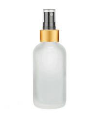 1 oz Frosted Glass Bottle w/ Black-Gold Fine Mist Sprayer