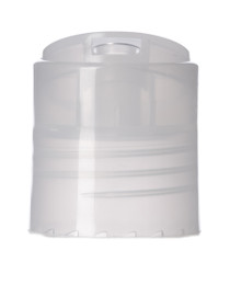 24-410 Dispensing Caps, Natural Polypropylene Smooth Disc Top Caps - Pack of 120
