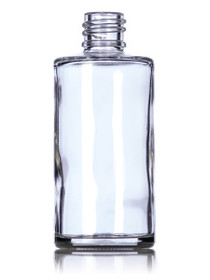 2 oz clear glass rio round bottle with 18-415 neck finish - Case of 288