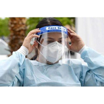Clear Anti-Fog Reusable Face Shield with Adjustable Headband - Box of 10