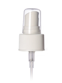 2 oz clear PET cylinder round bottle with 20-410 neck finish with White Fine Mist Sprayer- Set of 800