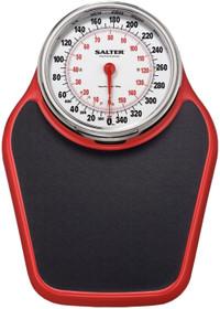 Salter Professional Analog 400lb Capacity Bathroom Scale/Black/Red