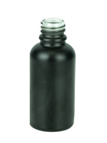 30ml Matte Black Euro Round Glass Bottle 18-415- Case of 330