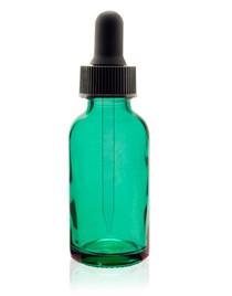 2 oz Caribbean Glass Bottle w/ Black Regular Glass Dropper