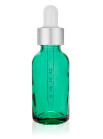 2 oz Caribbean Glass Bottle w/ Matte Silver/White Calibrated Glass Dropper