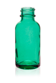 2 oz Caribbean Green Glass Bottle 20-400 Neck Finish