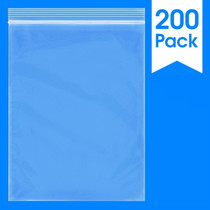 """200 Count - 9"""" X 12"""" - 2 Mil Clear Plastic Reclosable Zip Poly Bags with Resealable Lock Seal Zipper"""