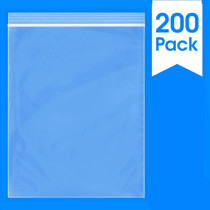 """200 Count - 8"""" X 10"""" - 2 Mil Clear Plastic Reclosable Zip Poly Bags with Resealable Lock Seal Zipper"""