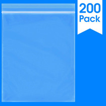 """200 Count - 10 X 12"""" - 2 Mil Clear Plastic Reclosable Zip Poly Bags with Resealable Lock Seal Zipper"""