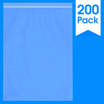 """200 Count - 13 X 18"""" - 2 Mil Clear Plastic Reclosable Zip Poly Bags with Resealable Lock Seal Zipper"""