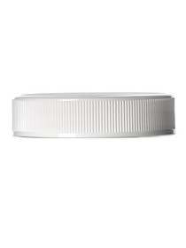 White PP 70-450G ribbed skirt lid with foam liner- Set of 96