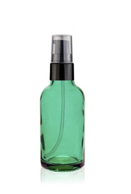 2 oz Caribbean Glass Bottle w/ Black Treatment Pump