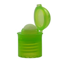 13-415 Green PP Plastic Flip Top Roller Caps Roller cap dispenses just the right amount of product BPA Free*