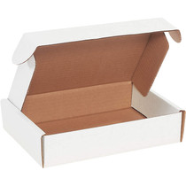 """Corrugated Deluxe Literature Mailer, 9"""" Length x 6-1/4"""" Width x 2"""" Height, Oyster White (Bundle of 50)"""