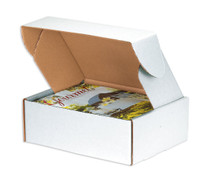 """Corrugated Deluxe Literature Mailer, 11-1/8"""" Length x 8-3/4"""" Width x 4"""" Height, Oyster White (Bundle of 50)"""