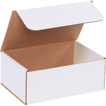 "Corrugated Deluxe Literature Mailer, 10"" x 7"" x 4"", White (Pack of 50)"