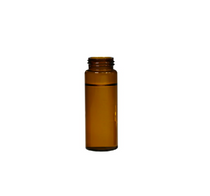 Screw Top 8mm Amber Glass 1.5mL HPLC Autosampler Vials w/ Writing Patch - Economy Set of 500
