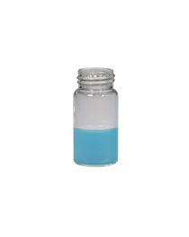 Screw Top 9mm Glass .3mL HPLC Autosampler Clear Vials w/ Integrated Micro-Insert & Writing Patch - Pack of 100