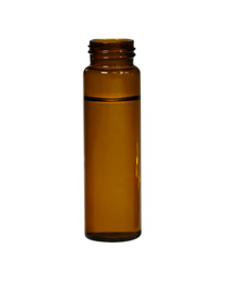 Screw Top 18mm Amber Glass 20mL Headspace GC Autosampler Vials w/ Round Bottom - Pack of 100