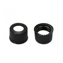 Screw Cap 9mm Black Plastic Vial Cap - Pack of 300