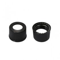 Screw Cap 9mm Black Plastic Vial Cap - Pack of 300