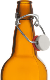 CASE of 6-16 oz. Easy Cap Beer Bottles - Amber