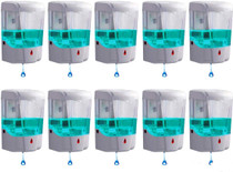Automatic Hand Sanitizer Dispenser Wall Mounted | Hands Free, Touchless, Great for Office, Salon, Restaurant, School, Church, Construction Site- 10 Pack