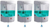 Automatic Hand Sanitizer Dispenser Wall Mounted | Hands Free, Touchless, Great for Office, Salon, Restaurant, School, Church, Construction Site- 3 Pack