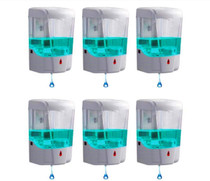 Automatic Hand Sanitizer Dispenser Wall Mounted | Hands Free, Touchless, Great for Office, Salon, Restaurant, School, Church, Construction Site- 6 Pack