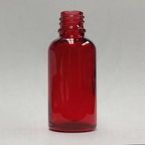 1 oz (30ml) Red Glass Bottle