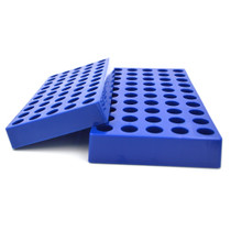 Copy of Tisch Scientific Blue Polypropylene HPLC Vial Rack Holds 50 Standard 12mm 2mL Chromatography Vials - Pack of 3
