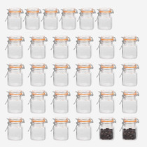 4 oz Glass Jars With Airtight Lids And Leak Proof Rubber Gasket,Small Mason Jars With Hinged Lids For Kitchen