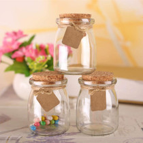 30Pcs Glass Favor Jar With Cork Lids,Multifunctional,Great Decoration(100 ML,3.4OZ)
